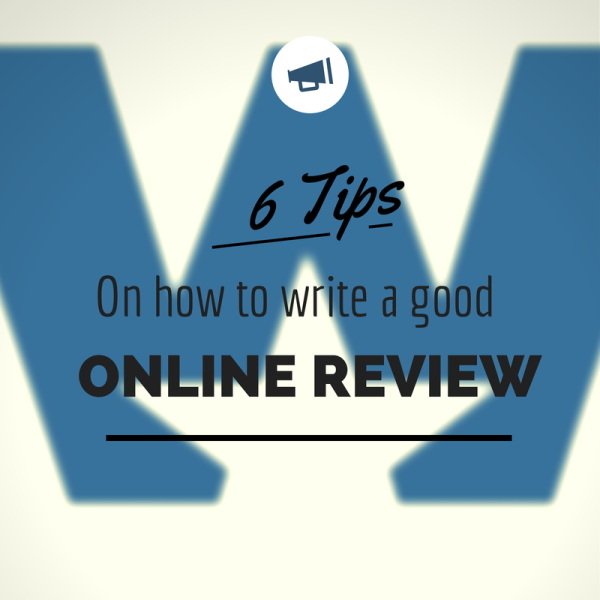 how to write a good online review