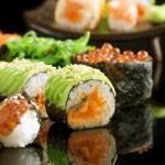 Sushi And Rolls Closeup
